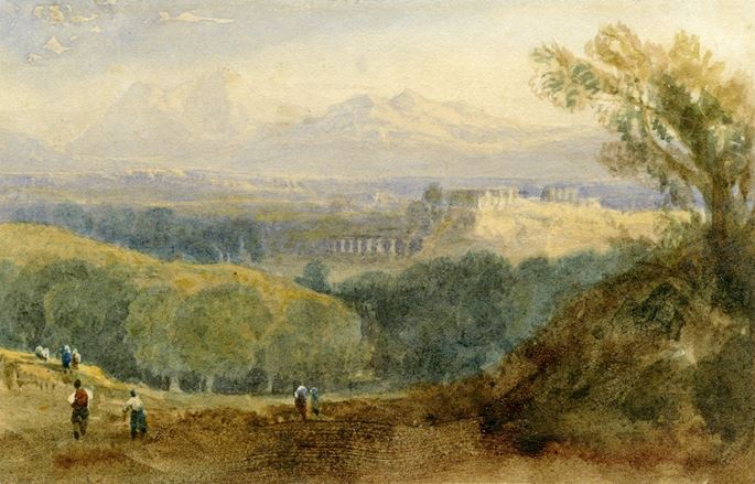 William Crouch - A classical landscape with a capriccio view of the Acropolis | MasterArt