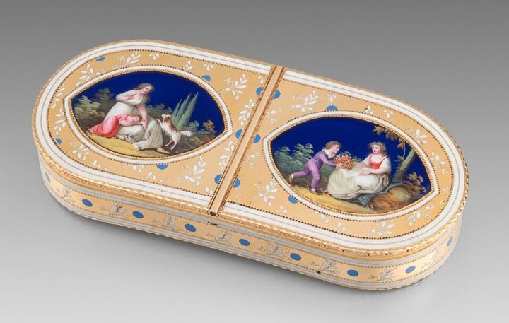 A French 19th Century Double Opening Snuff Box