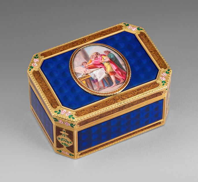 A German Gold & Enamel Snuff Box | MasterArt