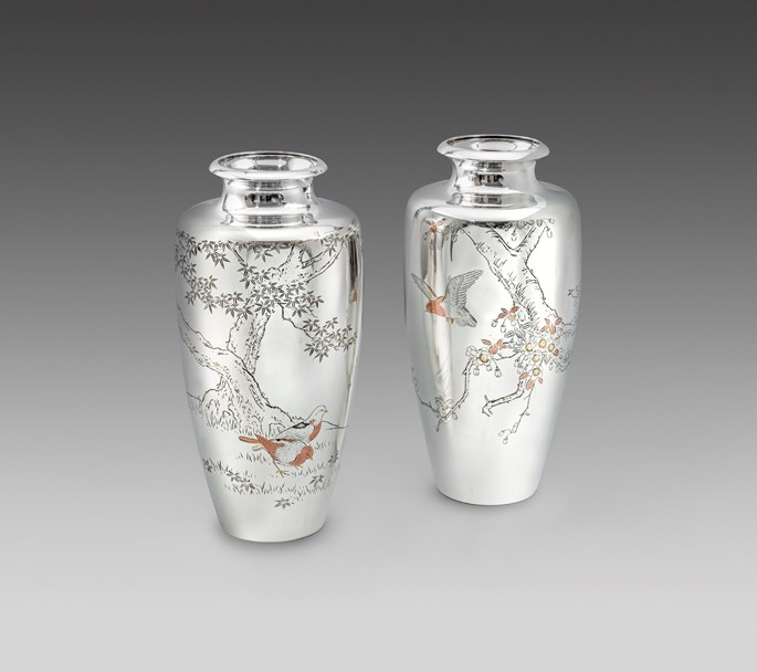 A Pair of Meiji Period Japanese Vases | MasterArt