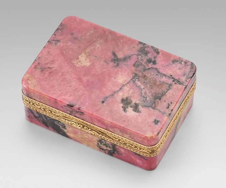 An Austrian Gold & Rhodonite Snuff Box