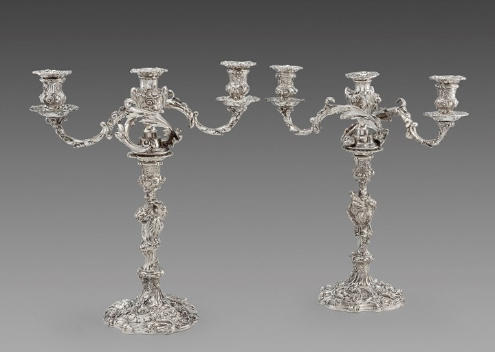 An Exceptional Pair of George III Candelabra
