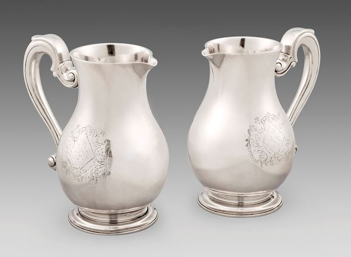 An Extremely Rare Pair of George I Beer Jugs | MasterArt