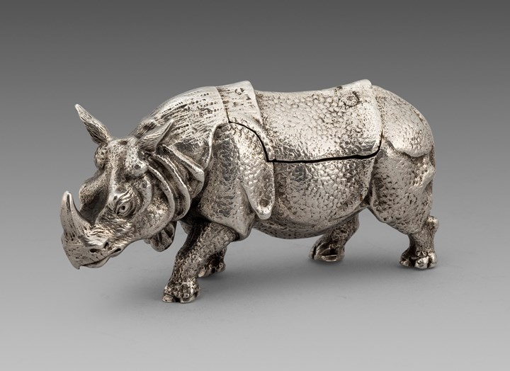An Extremely Rare Victorian Rhino box