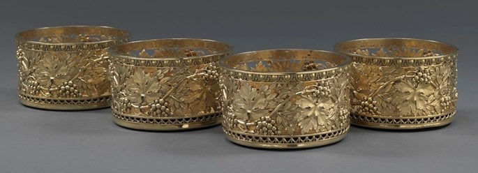 Benjamin Smith II - A Set of Four George III Silver-Gilt Wine Coasters | MasterArt