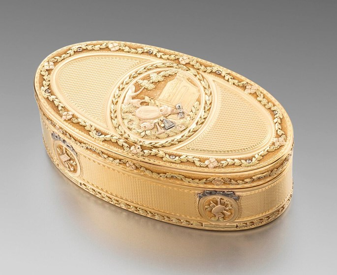 Charles Le Bastier - A French Vari-Colour Oval Gold Box | MasterArt