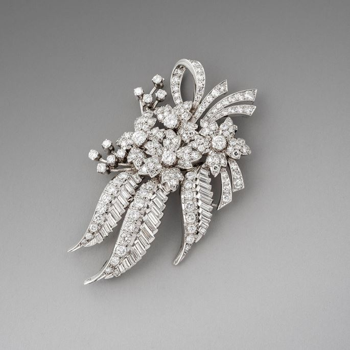 Diamond Flower Brooch | MasterArt