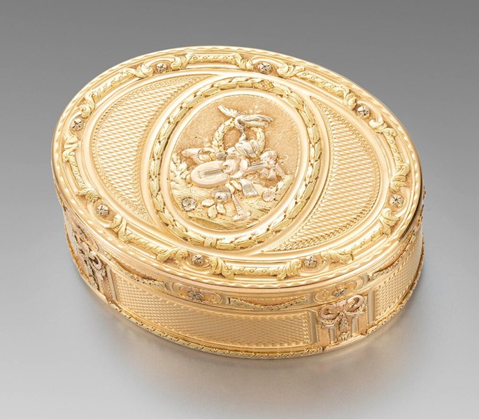 Jean Hannier - A French 18th Century Three-Colour Gold Box  | MasterArt