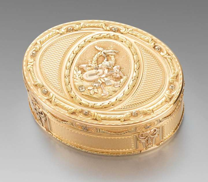 A French 18th Century Three-Colour Gold Box