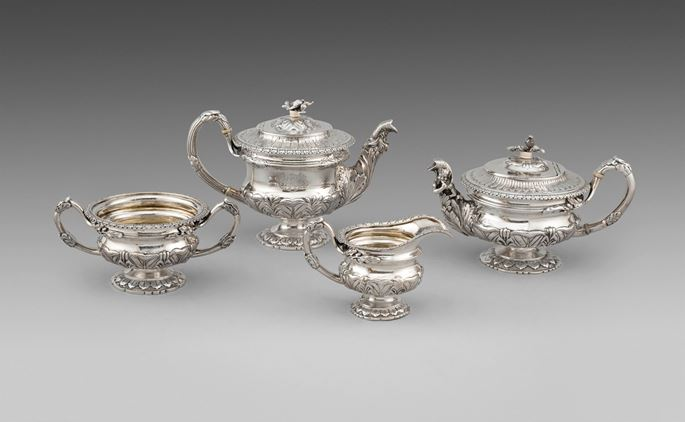 John Edward Terrey - A George IV Four-Piece Tea & Coffee Service  | MasterArt