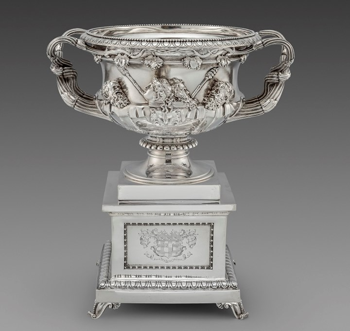 A George IV Warwick Vase on Stand