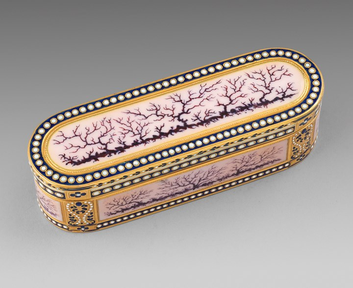 A Gold & Enamel Snuff Box