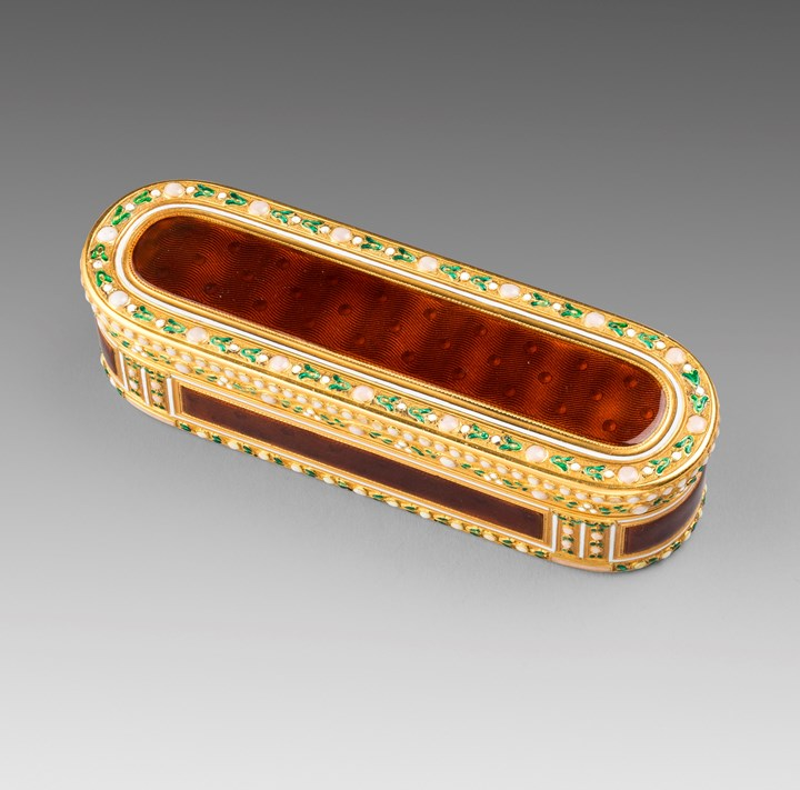 A Louis XVI Gold & Enamel Snuff Box