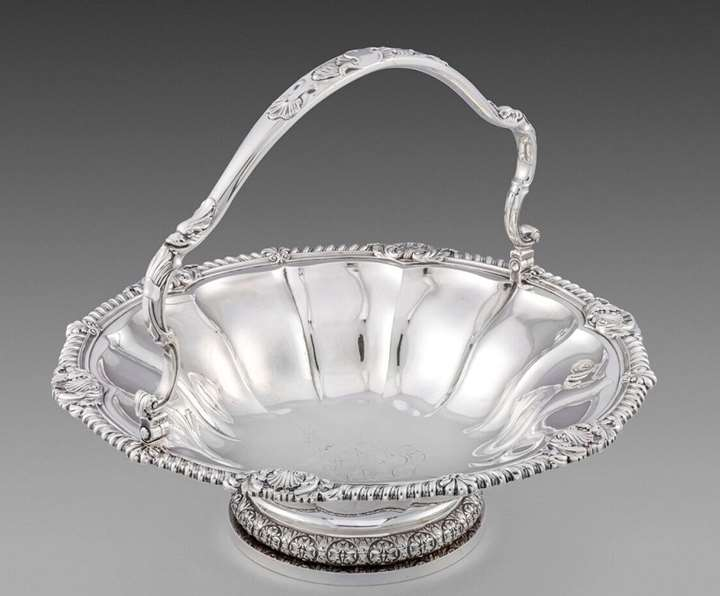 A George IV Silver Basket by Paul Storr