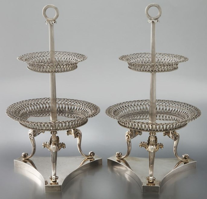 Paul Storr - A Pair of George IV Dessert Stands | MasterArt