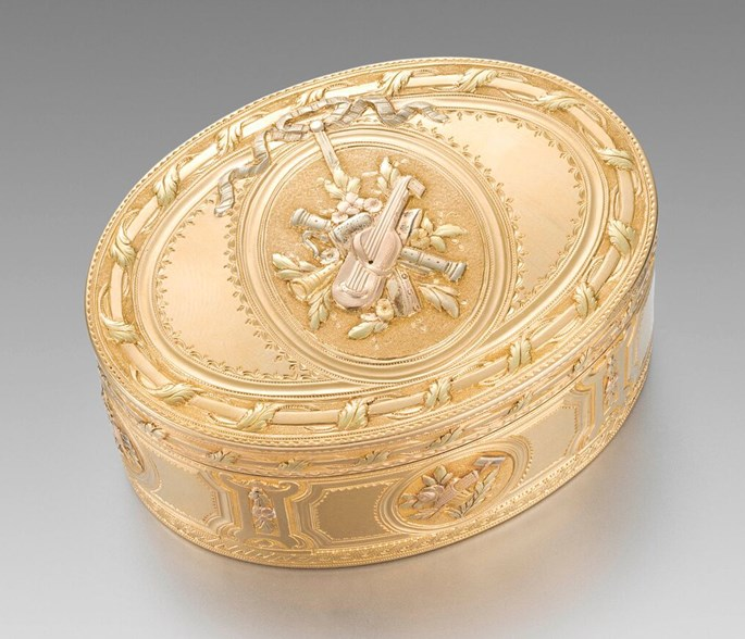 Pierre Francois Royer - A French 18th Century Three-Colour Gold Box  | MasterArt