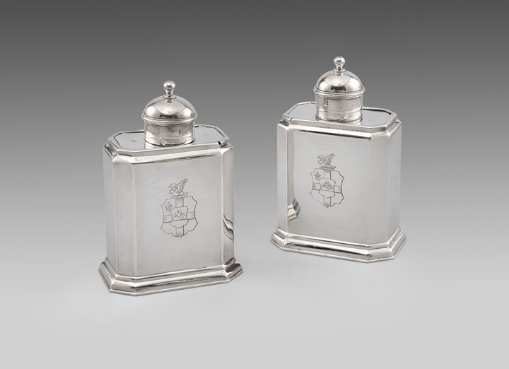 A Pair of George I Tea Caddies