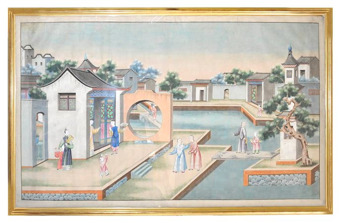 Two Chinese 19th Century Watercolours | MasterArt