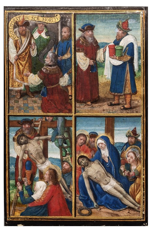 Simon Bening - Joseph of Arimathea and Nicodemus in the Passion of Christ | MasterArt
