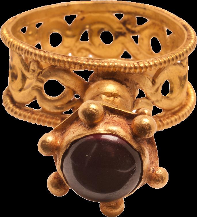 Gold Ring with Openwork Hoop | MasterArt
