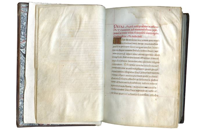 Marcus Tulius Cicero - In Latin, Decorated Manuscript on Panchment: De officiis libri III cum interpretatione Petri Marsi | MasterArt