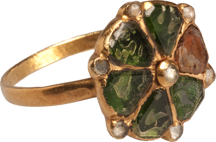Italian Glass Decorative Ring