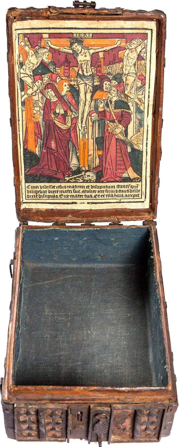Coffret Woodcut Crucifixion with Two Thieves