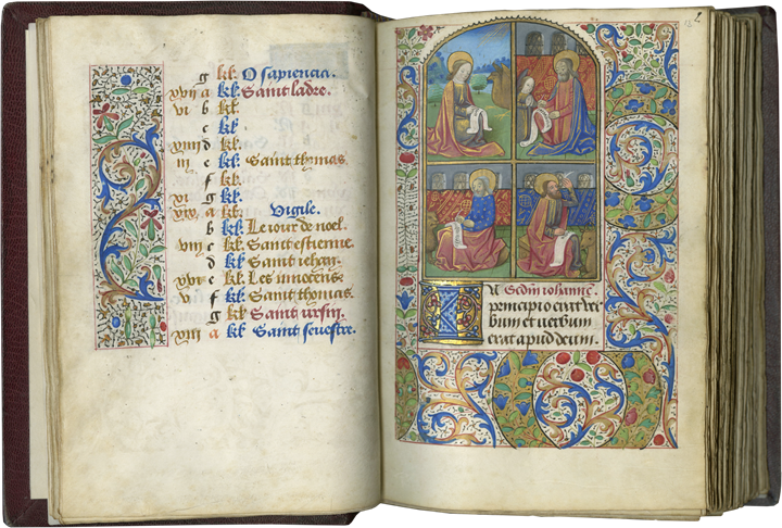 BOOK OF HOURS. MADE FOR AN URBAN ELITE COUPLE IN ROUEN, THE CENTER SECOND ONLY TO PARIS IN FIFTEENTH-CENTURY FRANCE