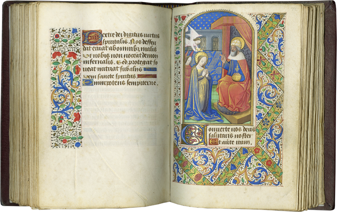 BOOK OF HOURS. MADE FOR AN URBAN ELITE COUPLE IN ROUEN, THE CENTER SECOND ONLY TO PARIS IN FIFTEENTH-CENTURY FRANCE   MasterArt