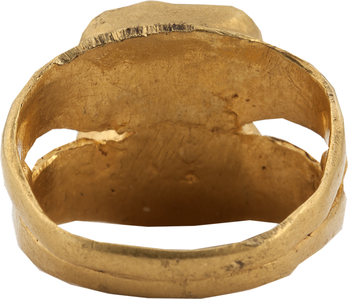 Antique Ring with Two Female Portrait Cameos | MasterArt