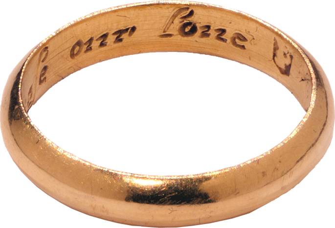 "Posy Ring ""God Above Increase Our Love"" 