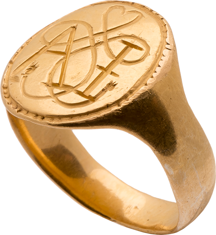 "Signet Ring with True Lover's Knot and the Initials ""AI"""