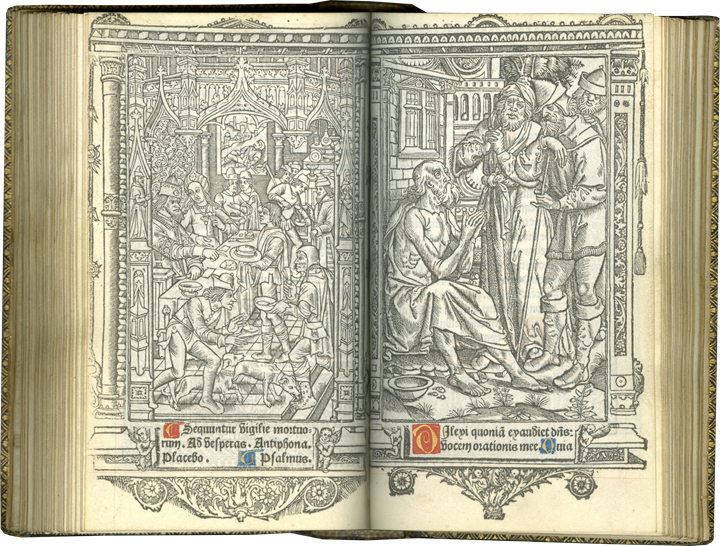 Classic Uncolored Printed Book of Hours by an Important Early Printer