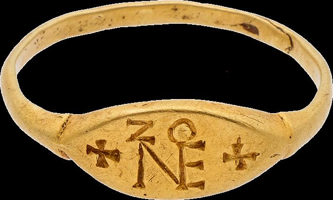 Gold Ring with the Monogram of Zeno | MasterArt