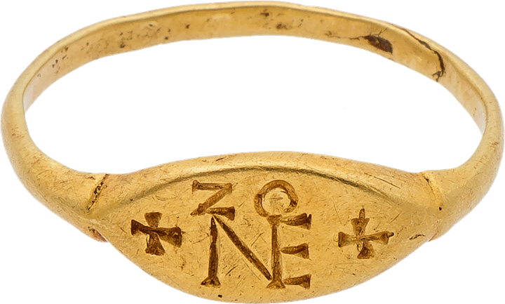 Gold Ring with the Monogram of Zeno