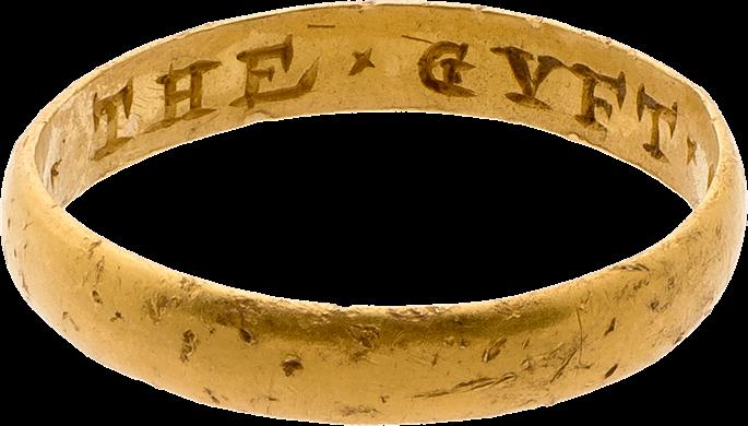 "Posy Ring, ""The GYFT OF A FRIND""   MasterArt"