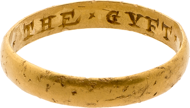 "Posy Ring, ""The GYFT OF A FRIND"""