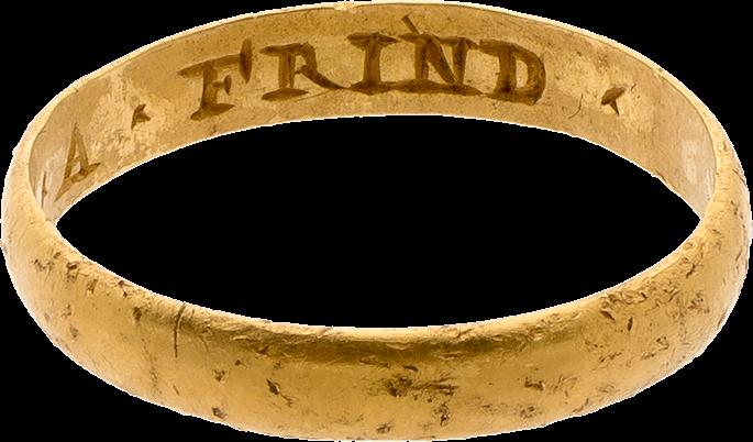 "Posy Ring, ""The GYFT OF A FRIND"" | MasterArt"