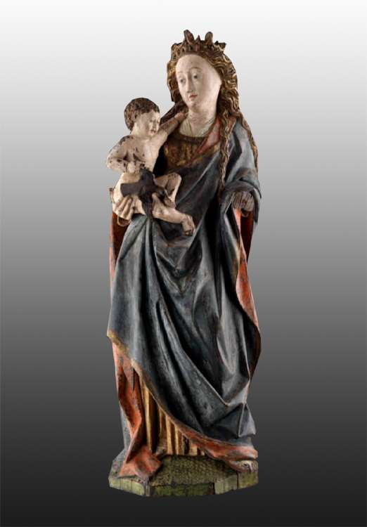 Renaissance Statue: Virgin and Child
