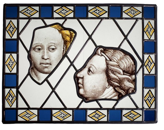 Loire Valley Artist - Stained Glass: Two Panels from Civil Architecture:  the Virgin and an Angel | MasterArt