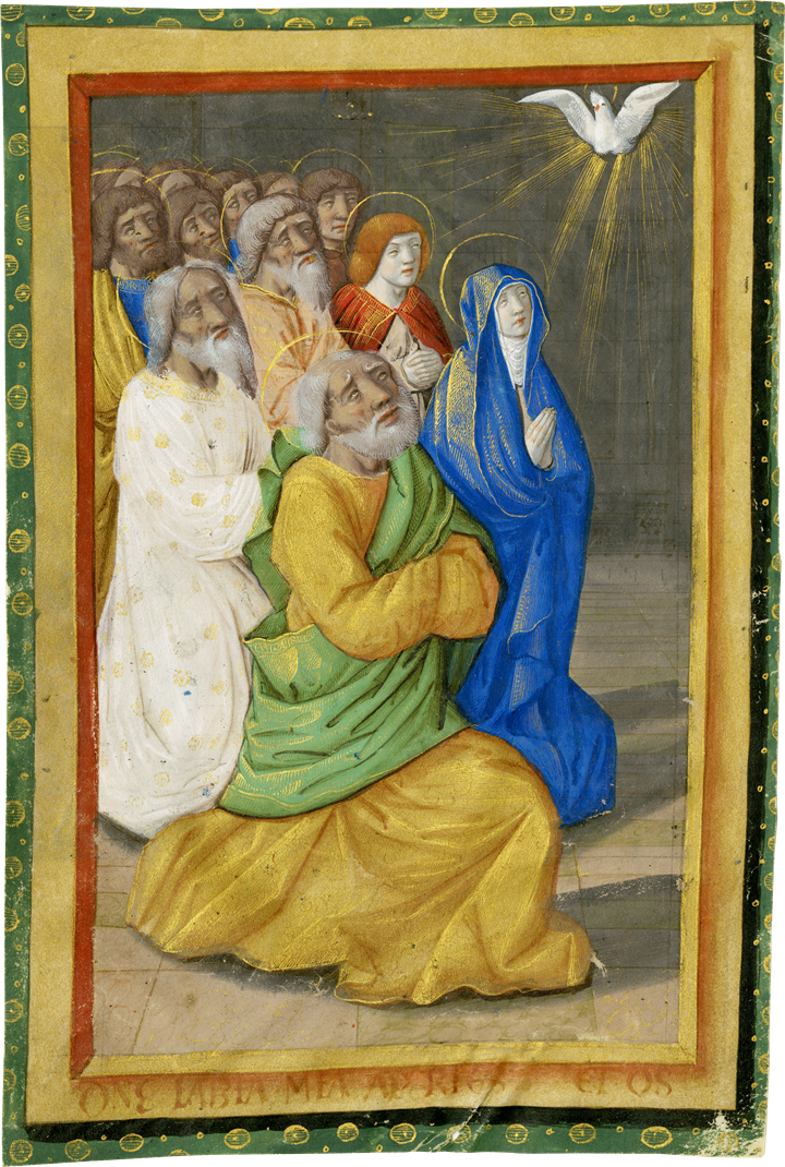 The Pentecost, from a Book of Hours