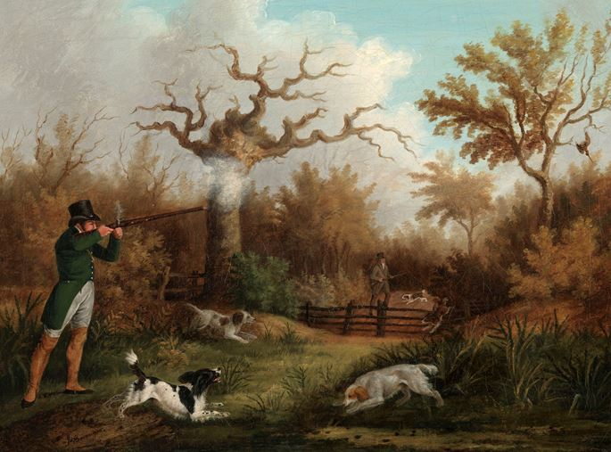 James Barenger - Woodcock Shooting; Sportsmen with Pointers | MasterArt