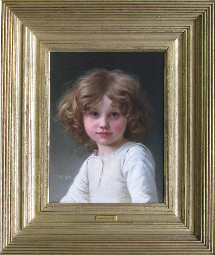 Jules-Cyrille Cavé - Young Girl with Curly Hair | MasterArt