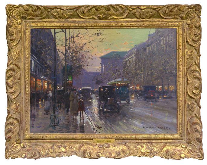"Edouard Léon Cortes - ""Boulevard de la Madeleine at sunset"" | MasterArt"