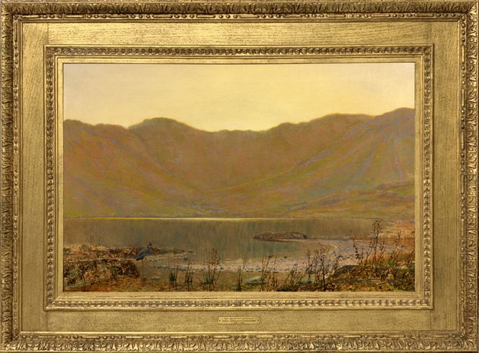 John Atkinson Grimshaw - Sun-dip, the home of the heron | MasterArt