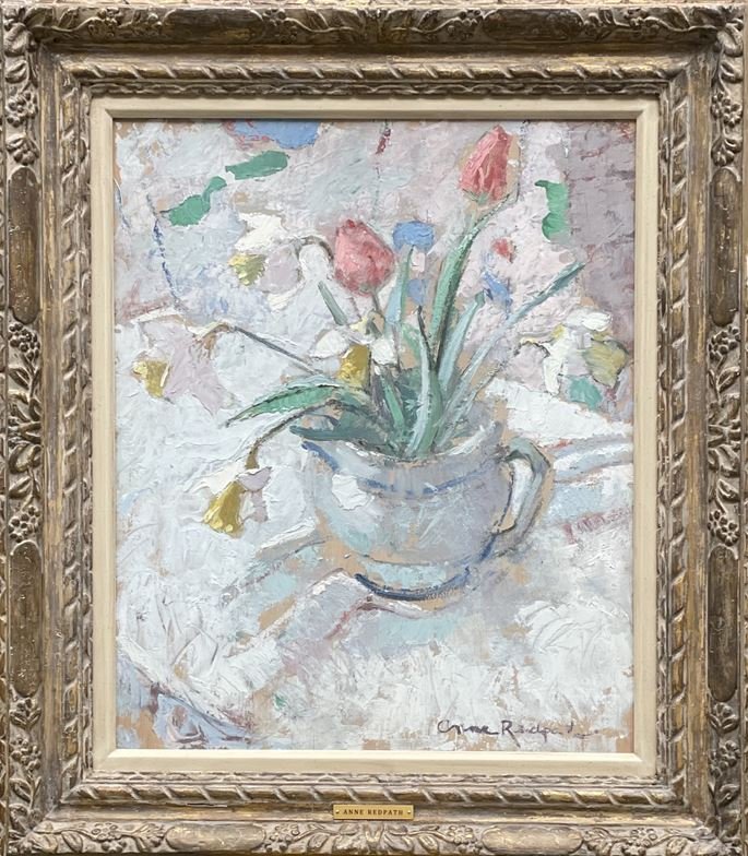 Anne Redpath - Still life with daffodils and tulips | MasterArt