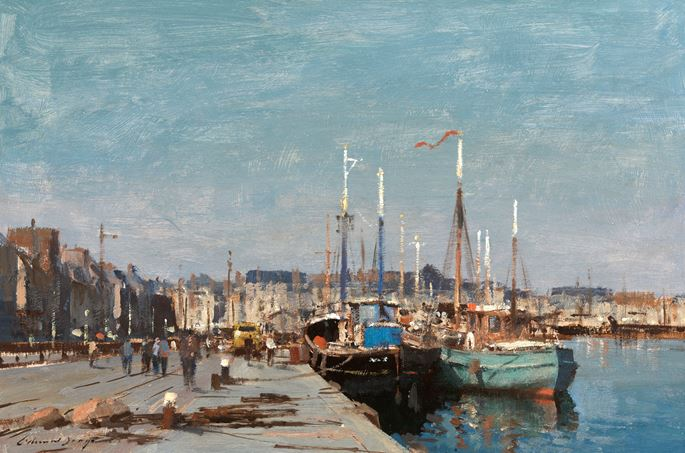 Edward Brian Seago - Boats in the harbour, Dieppe | MasterArt
