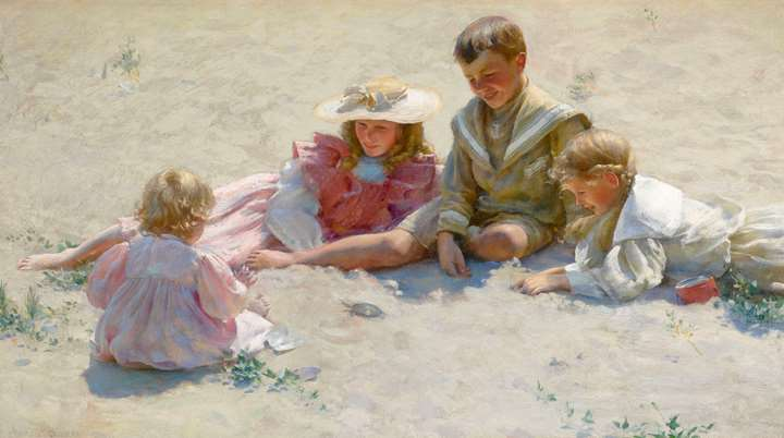 Children on the sand