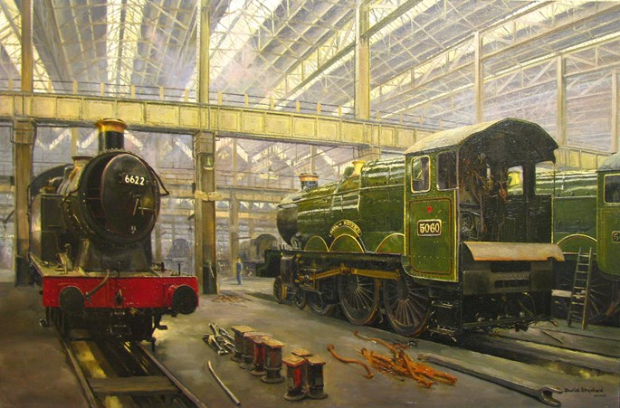 David Shepherd - In the sheds, Swindon | MasterArt