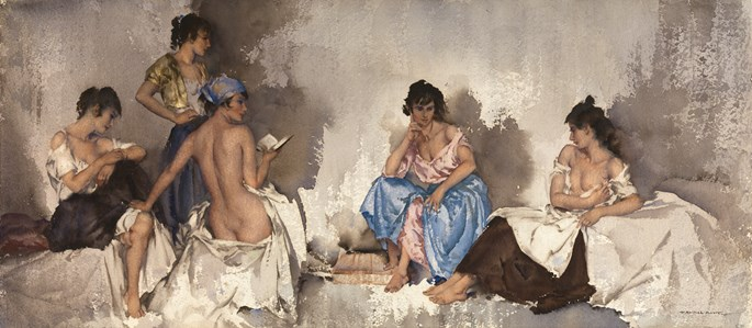 Sir William Russell  Flint - Five studies of Cecilia | MasterArt